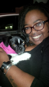 Me and Penny on the first day we got her in Austin, TX
